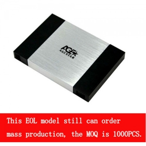 2.5''USB 2.0 Tool-free external enclosure