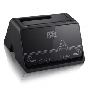 USB3.0 to 2.5&3.5 SATA HDD 2 Bay Docking Station