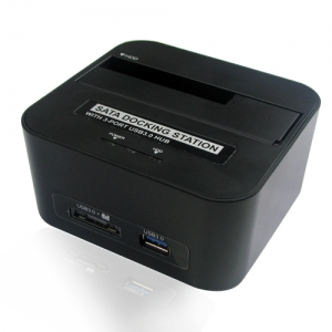 USB3.0 to 2.5&3.5 SATA HDD with Hub USB3.0 Card reader  Docking